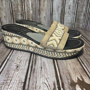 Donald J Pliner beaded platform wedge sandals - Li